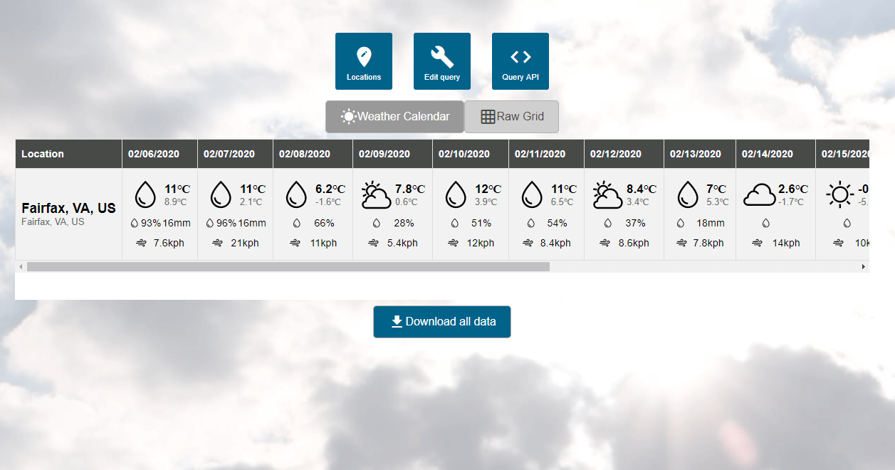 Weather API Query Builder