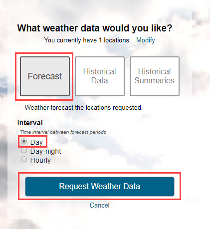 Build Weather Query