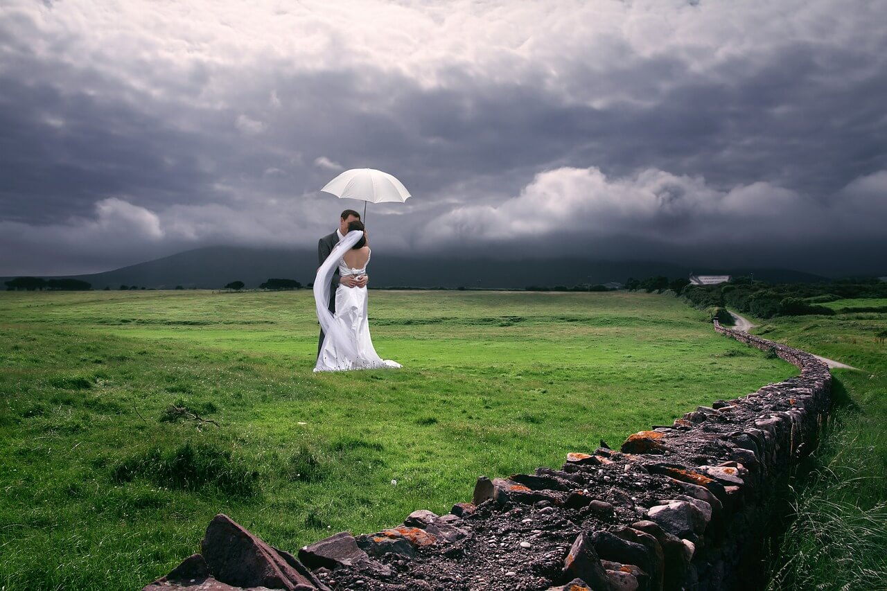 Prepare for any weather that might happen on your wedding day